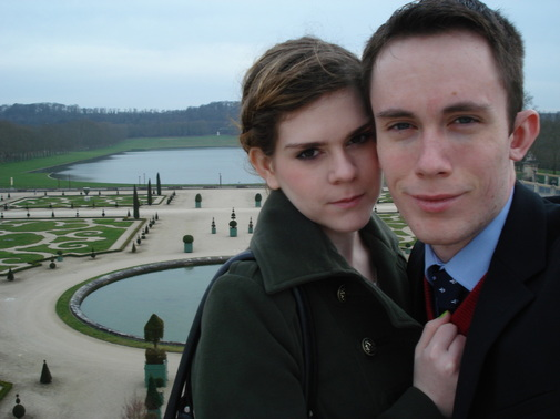 Haley and I in the gardens of Versailles